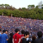 Thousands of Yonsei students dressed in blue gathered together to enjoy the concert