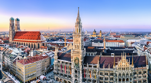 Internships in Germany | Panorama on Munich